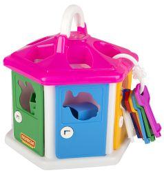 Игровой набор Полесье Логический домик розовая крышка