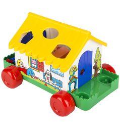 Игровой домик Полесье желтая крыша в коробке