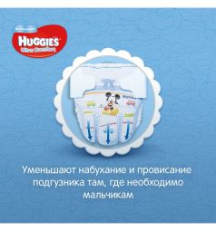 Подгузники Huggies Ultra Comfort 5 для мальчиков (12-22 кг) 15 шт.