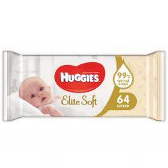 Влажные салфетки Huggies Elite Soft детские, 64 шт