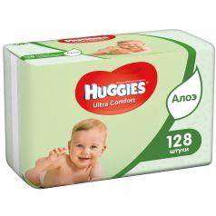 Влажные салфетки Huggies Ultra Comfort детские, 128 шт