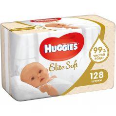 Влажные салфетки Huggies Elite Soft детские, 128 шт