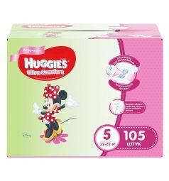 Подгузники Huggies Ultra Comfort Disney 5 для девочек (12-22 кг) 105 шт.