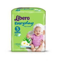 Подгузники Libero Everyday для девочек (4-9 кг) 22 шт.