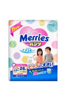 Подгузники-трусики Merries ночные XXL (15-28 кг) 26 шт.