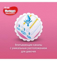 Подгузники Huggies Ultra Comfort для девочек (8-14 кг) 126 шт.