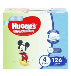 Подгузники Huggies Ultra Comfort для мальчиков (8-14 кг) 126 шт.