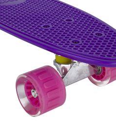 Скейтборд Leader Kids S-2206E, цвет: фиолетовый