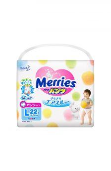 Подгузники-трусики Merries L (9-14 кг) 22 шт.