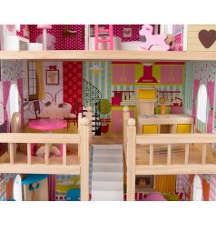 Дом для кукол Edufun с комплектом мебели 90 см