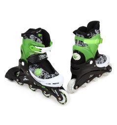 Коньки-роликовые Action Sport, цвет: зеленый/серый