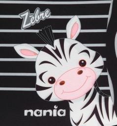 Автокресло-бустер Nania Dream Animals, цвет: чёрный/серые полосы/зебра