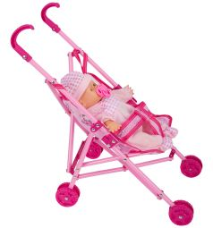 Кукла-пупс Tongde с коляской 45 см