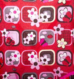 Коляска-трость для кукол MelogoMelobo красно-розовая с бабочками 55 см