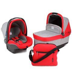 Спальный блок + автокресло Peg-Perego Modular Set Peg-Perego люлька Navetta Pop Up/автокресло Primo Viaggio Tri-Fix/сумка Borsa, цвет: серый/красный