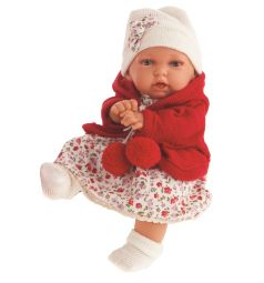 Кукла Juan Antonio Азалия в красном наряде 27 см