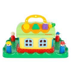 Развивающая игрушка Полесье Сказочный домик на лужайке