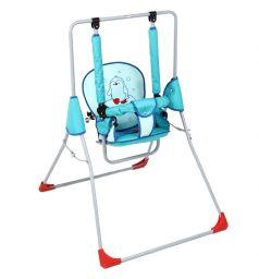 Качели Фея Малыш Супер люкс с вышивкой, цвет: голубой