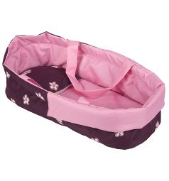 Коляска для кукол Wakart Кая Розовая с цветами