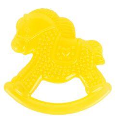 Прорезыватель Курносики Любимые игрушки Желтая лошадка, 10 см
