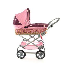 Коляска для кукол Wakart Моника розовая