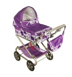 Коляска для кукол Wakart Дарья 3 Фиолетовая