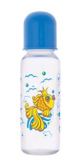 Бутылочка Курносики Золотая рыбка полипропилен с 6 мес, 250 мл, цвет: голубой