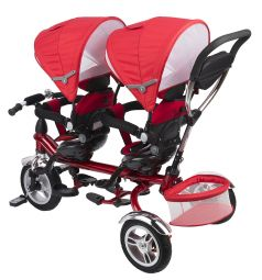Детский трехколесный велосипед Capella Twin Trike 360, цвет: красный