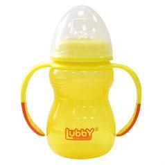 Поильник-непроливайка Lubby Классика С ручками, от 6 мес, цвет: желтый