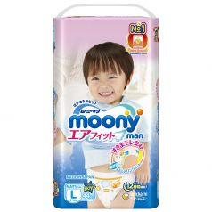 Подгузники-трусики Moony L для мальчиков (9-14 кг) 44 шт.