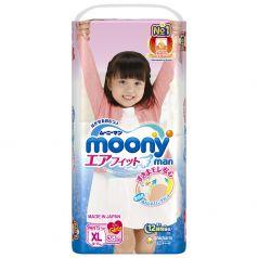 Подгузники-трусики Moony Big для девочек (12-17 кг) 38 шт.