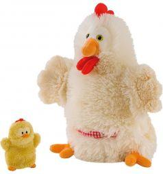 Игрушка на руку Trudi Курочка с цыпленком 28 см