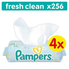 Салфетки Pampers Baby Fresh Clean Детские, 4*64 шт