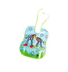 Слюнявчик Бусинка Цветные картинки, цвет: зеленый
