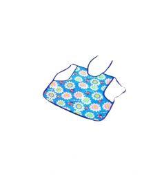 Слюнявчик Бусинка На лямках, цвет: голубой