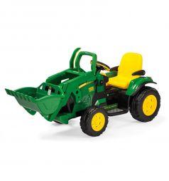 Электромобиль Peg-Perego John Deere Ground Loader, цвет: черный/зеленый
