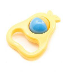 Погремушка Полесье Груша желтая груша с оранжево-голубым шаром
