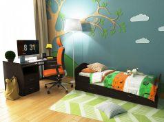 Кровать-трансформер Valle Alisa 2 части, цвет: венге