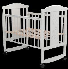 Кровать-качалка Valle Кот 02, цвет: белый