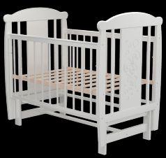 Кроватка Valle Зайка 05, цвет: белый