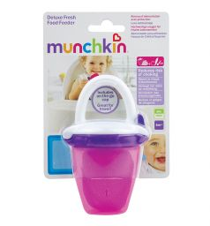 Ниблер Munchkin для прикорма пластик, цвет: розовый