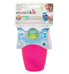 Поильник-чашка Munchkin, от 12 мес, цвет: розовый