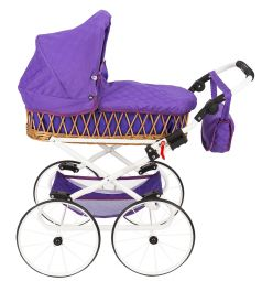 Коляска для кукол Wakart Моника Ретро фиолетовая