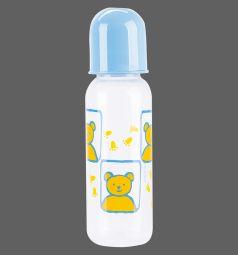 Бутылочка Курносики С крышкой полипропилен с рождения, 250 мл, цвет: голубой