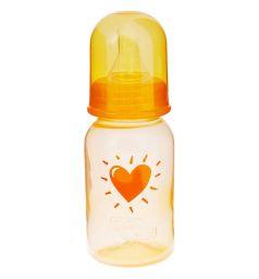 Бутылочка Пома полипропилен с рождения, 120 мл, цвет: оранжевый