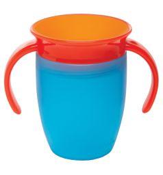 Поильник-чашка Munchkin С ручками, от года, цвет: голубой