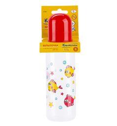 Бутылочка Курносики полипропилен с 0 мес, 250 мл, цвет: красный