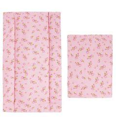 Leader Kids Комплект в коляску Зайчик мой подушка/матрас 2 предмета подушка (44 х 31 см), цвет: розовый