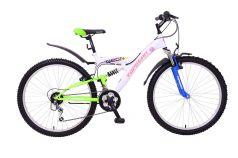 Велосипед Top Gear Neon 120, цвет: белый/синий/зеленый