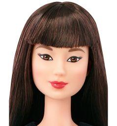 Кукла Barbie Мода Игра с модой черные волосы черно-красная юбка